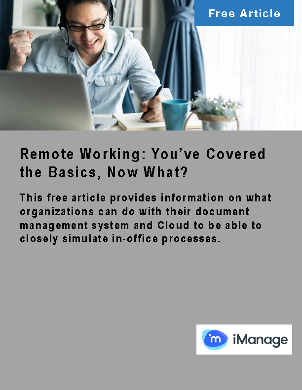 Remote Working: You've Covered the Basics, Now What?